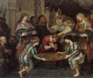 Cornelis de Vos, Onction de Salomon (1630 c.), Wien, Kunsthistorisches Museum