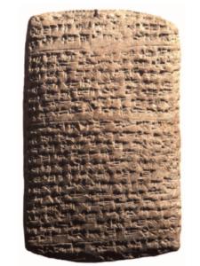 Lettre d'Aziru, roi d'Amurru, au pharaon (d'après Yon 2014: fig.2a)