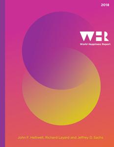 Couverture du WHR 2018