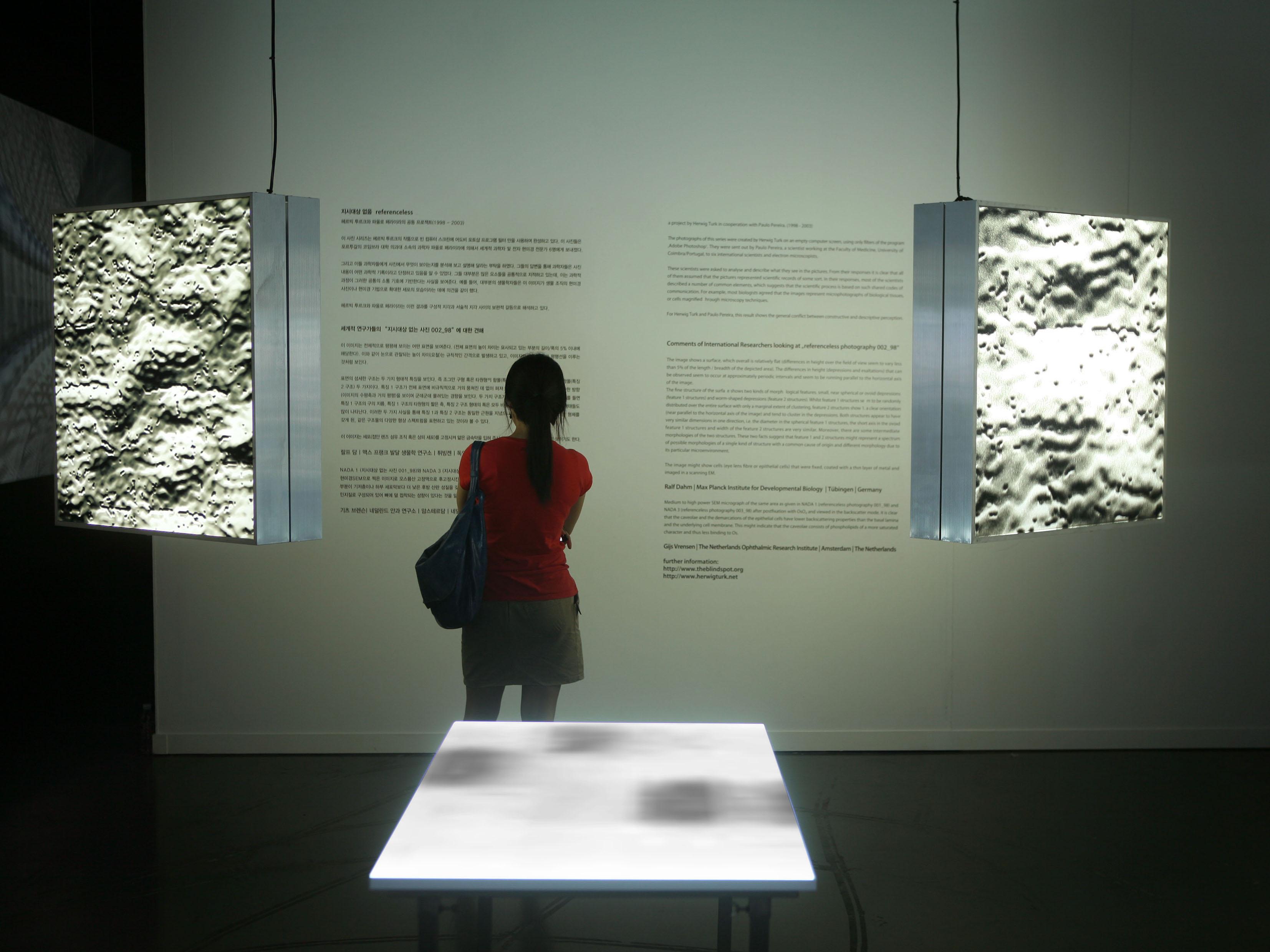 Imagem com plano de exposição, onde se vê pessoa de costas lendo