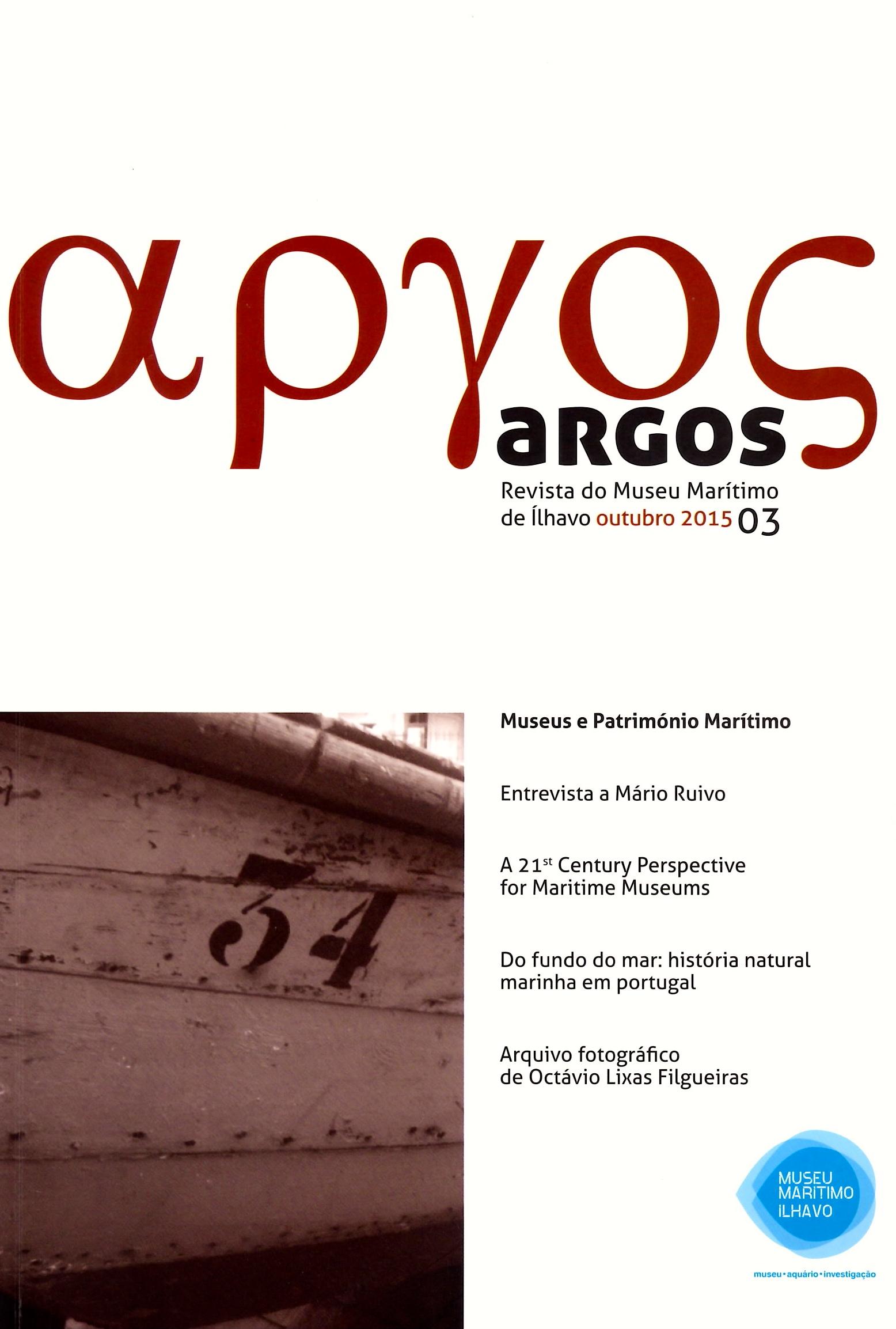 capa da revista número 3, onde se vê pequena imagem de pormenor de embarcação com o número 34