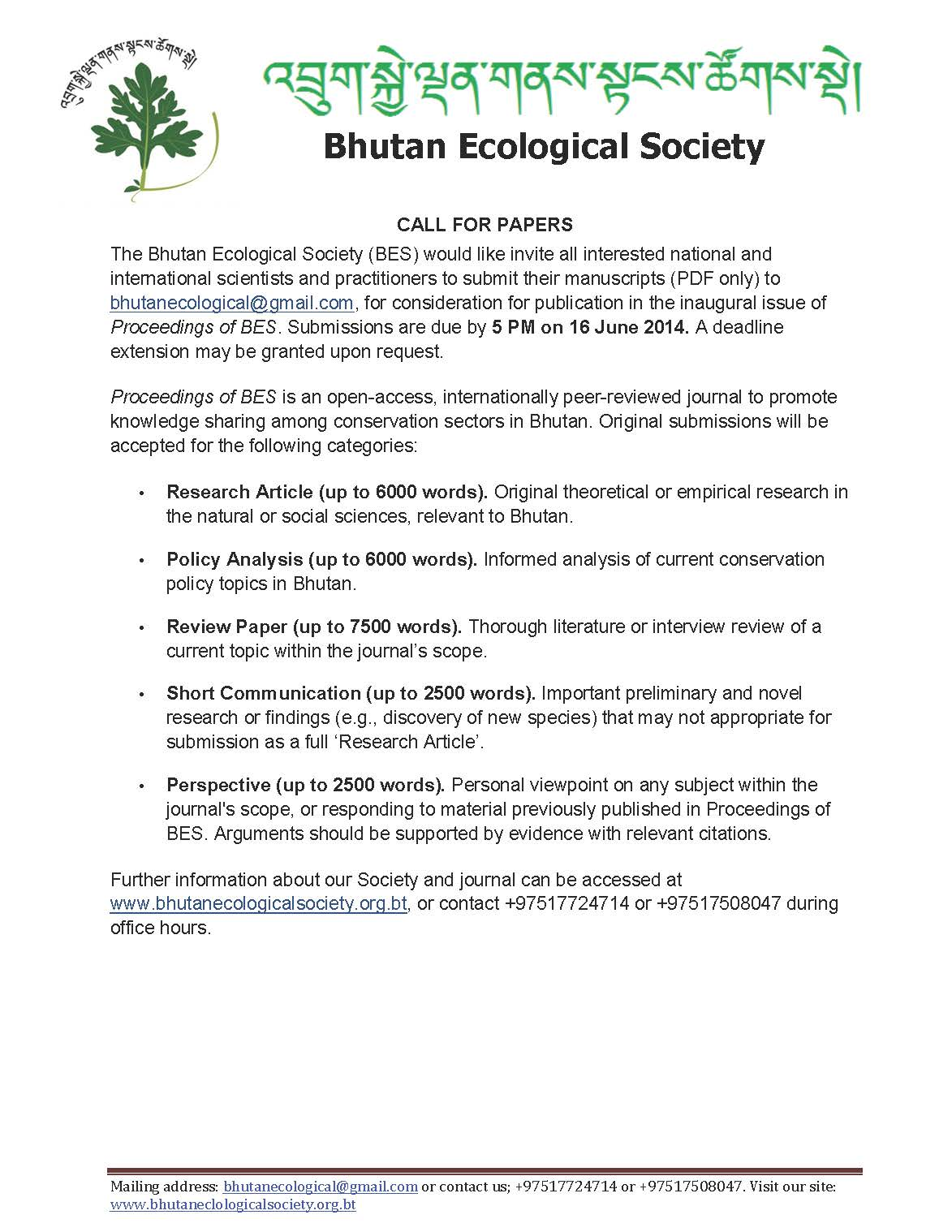 BES announcement_Call For papers_intl
