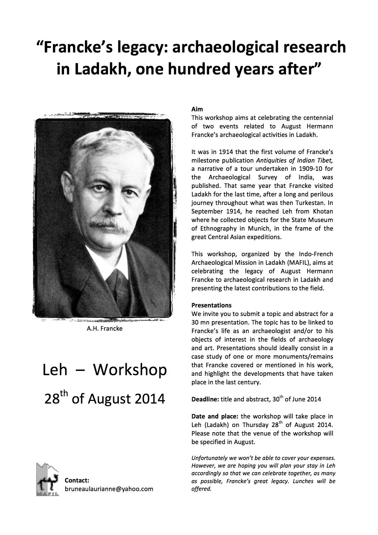 Leh Francke workshop 2014