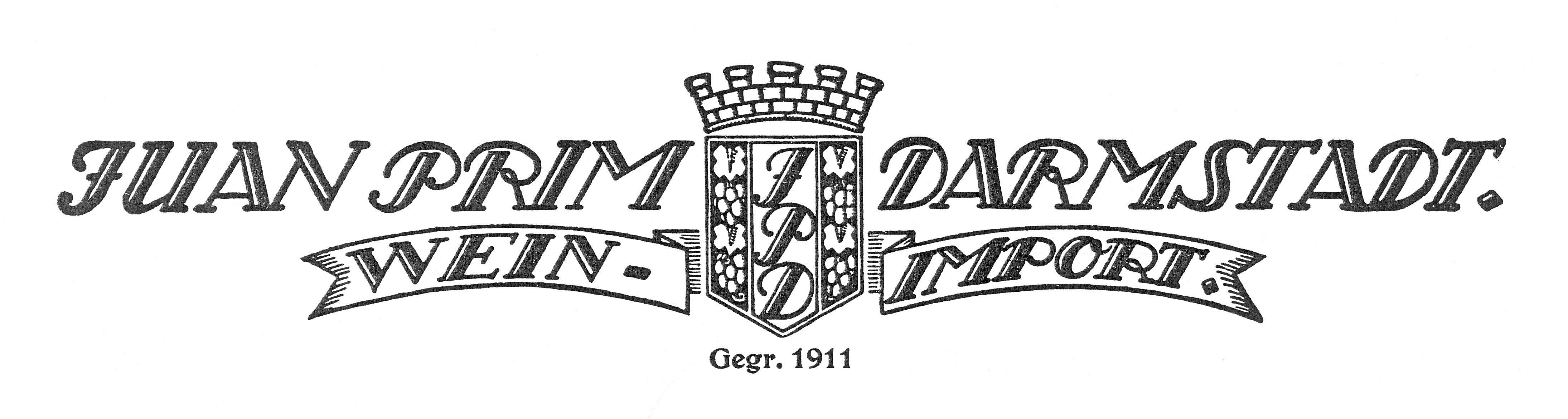 Briefkopf der Firma Juan Prim Darmstadt, StadtA DA Best. 63