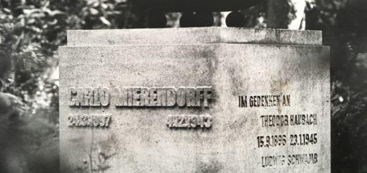 Grabmal für Widerstandskämpfer auf dem Waldfriedhof, 1984, Foto: Wissenschaftsstadt Darmstadt/Roland Koch, StadtA DA Best. 53