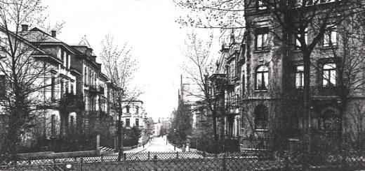 Postkarte mit Blick in die Hochstraße, StadtA DA Best. 53 Negativ Nr. 883/1