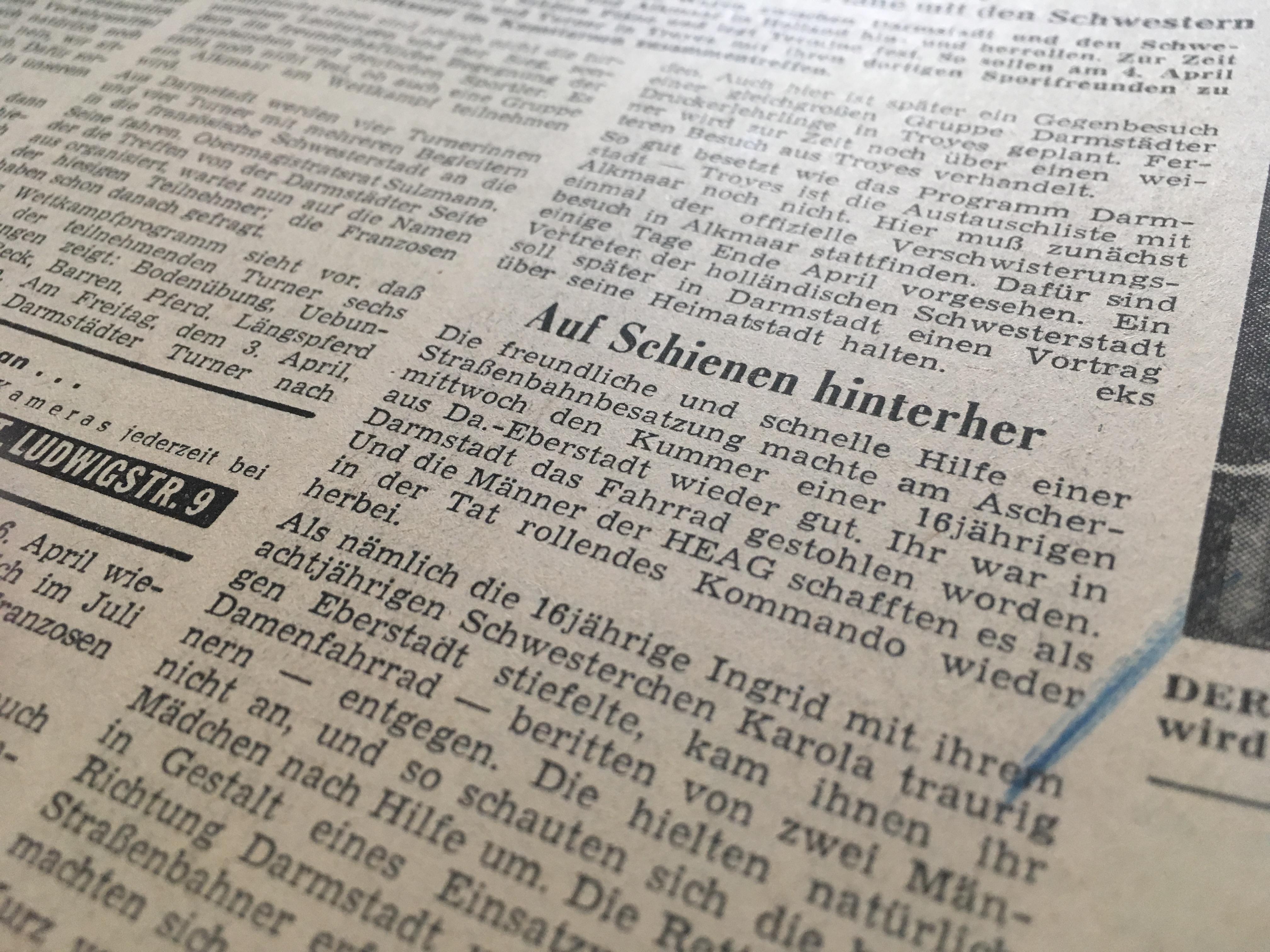 Darmstädter Echo vom 13.02.1959