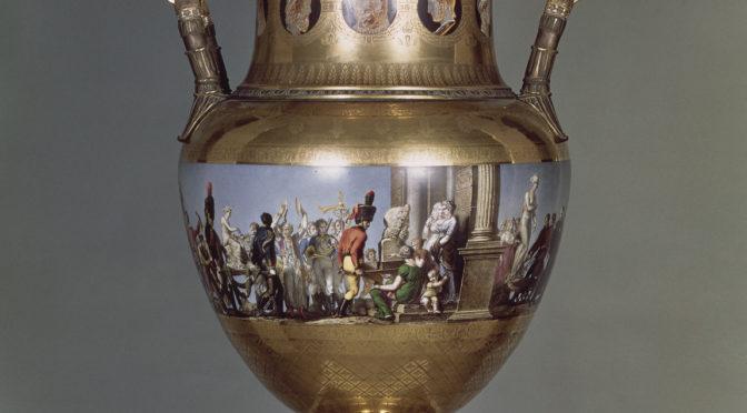 1813: Triumphzug mit Beutekunst auf französischer Prunkvase
