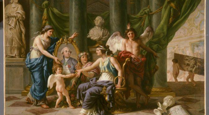 1783: Allegorie zur Einrichtung des Museums im Louvre