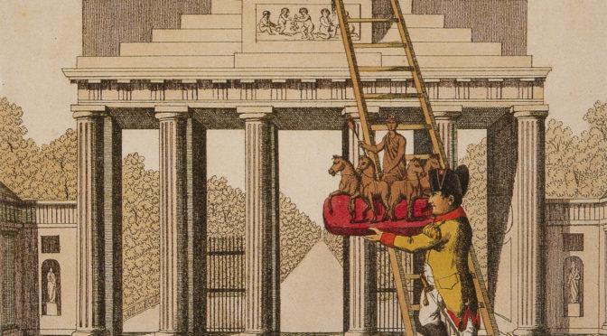 1813 (ca.): Napoleons Raub der Berliner Quadriga in der Karikatur