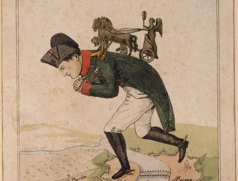1814: Der Pferdedieb soll büßen. Karikatur der Berliner Retourkutsche