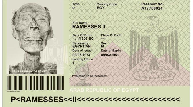 2018: Schönheitskorrektur mit Ausweispflicht. Der Reisepass Ramses II.