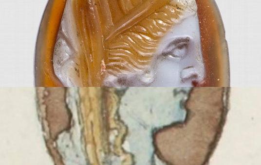 Camée antique et dessin de Muret