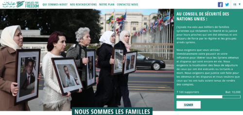 Site Web de Families for Freedom
