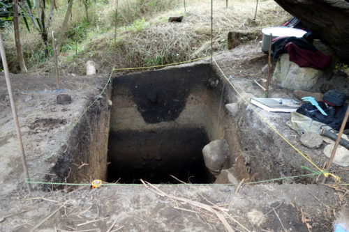 One of the excavated Manim test unit.