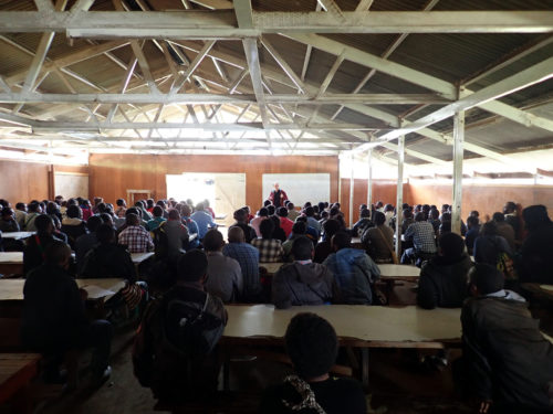Project presentation at Mt Wilhelm Secondary School (Simbu valley)