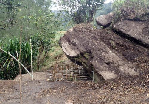Site closed after 2019 excavation of Manim rockshelter.