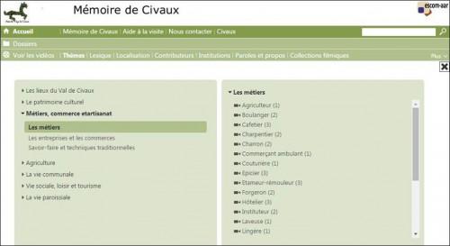 Acces videotheque Memoire de Civaux