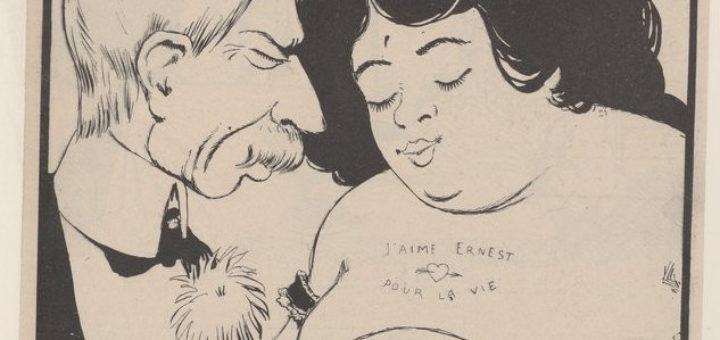 """Rabier, Benjamin, """"Les femmes tatouées"""", Caricatures et dessins humoristiques, 1902."""