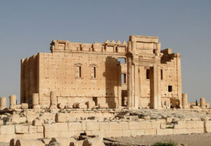 Photograph of the Temple of Bel, Palmyra, Syria.