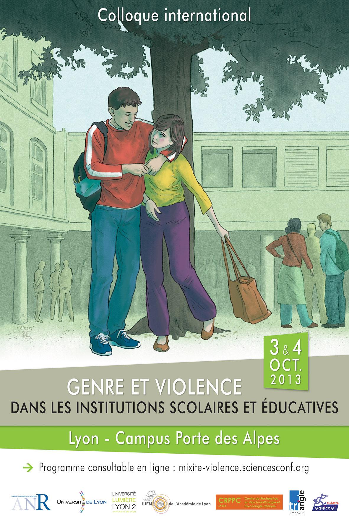 Genre et violence dans les institutions éducatives - Affiche