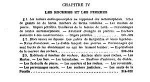 Sébillot, Le Folklore de la France, t. 1, rochers, pierres