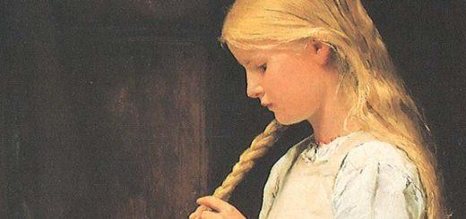 Jeune fille aux tresses blondes