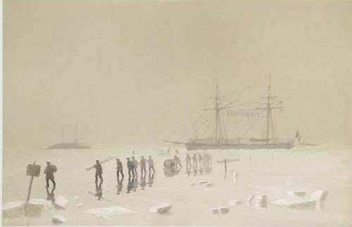 Effet de brume sur la glace un jour de dégel
