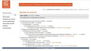 """Résultats d'une recherche avec le terme """"Morazé"""" (historien et figure importante de l'histoire de la Fondation)"""