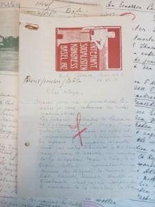 Correspondance relative au congrès de Bâle de 1912 (Fonds Georges Haupt, Archives de la FMSH)