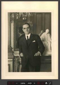 Portrait en demi-grandeur de l'économiste Adolphe Landry (1874-1956) (Archives de la FMSH, fonds Marguerite Pichon-Landry, 12 D 1/1475 )