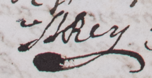 Signature d'Isaac Rey