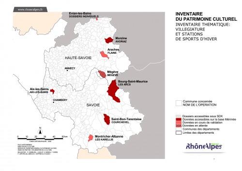 """Etat des lieux de l'inventaire thématique """"villégiature et stations de sports d'hiver"""" en Savoie et Haute-Savoie (chiffres au 31/12/2010)"""
