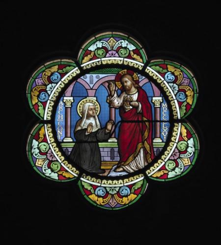 Paré et Aubriot, L'Apparition du Christ à Marguerite-Marie Alacoque (1866)