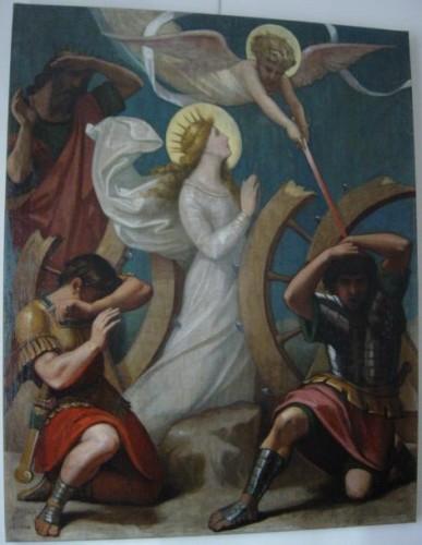 R. Balze, <i>Le Martyre de sainte Catherine</i> (huile sur toile, collection particulière).