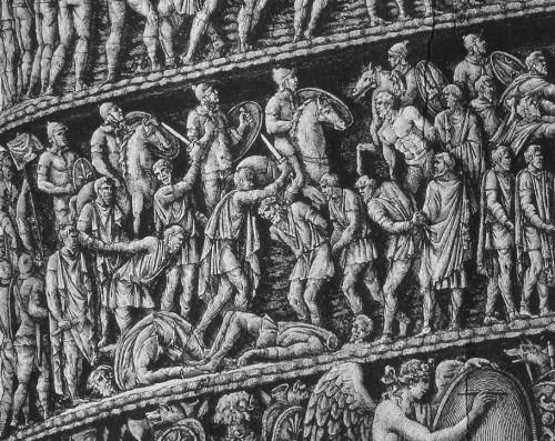 Fig. 11. Détail de la colonne : Scène de décapitation.