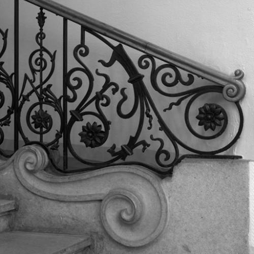 Départ de l'escalier principal