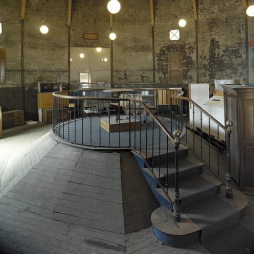 Le dernier étage de la rotonde, état en 2005