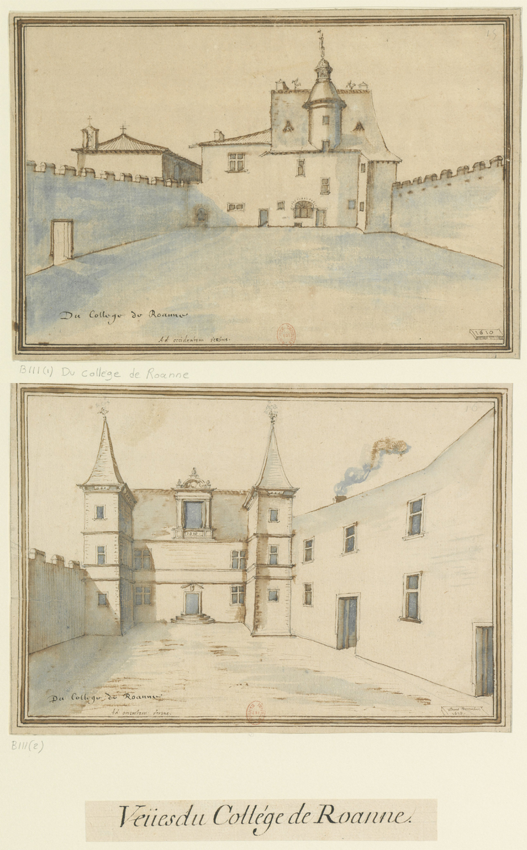 Fig. 1. Du collège de Roanne, 31 décembre 1610, BnF, Est., Ub 9, f. 111