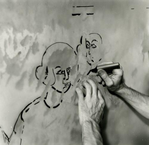 Le relevé des peintures de Cruet par Paul Cherblanc