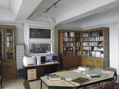 Vue de la bibliothèque.