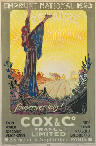Ill. 8. Souscrivez tous !, affiche pour l'emprunt de 1920, lithogr. par Hazan