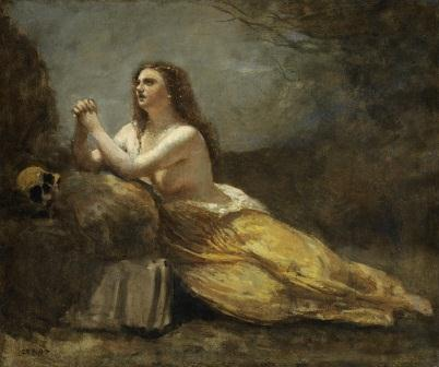 Madeleine en prière par Jean-Baptiste-Camille Corot (1796–1875)