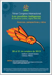 CARTEL-PRIMER CONGRESO INTERNACIONAL PUEBLOS INDÍGENAS