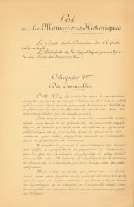 Loi du 31 décembre 1913 sur les Monuments historiques