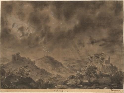Château du Spesbourg à Andlau. Auteur : Engelhardt, 1820 (fonds Denkmalarchiv)