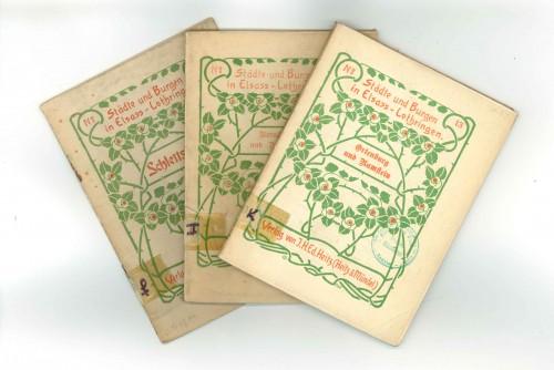 Städte und Burgen in Elsass-Lothringen. Heitz und Mündel éd., 1905-1909 (STAP 67)