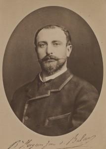 Portrait du baron Hugo Zorn de Bulach. Auteur : A. Meyer, 1884 (Phot. et coll. BNU Strasbourg)