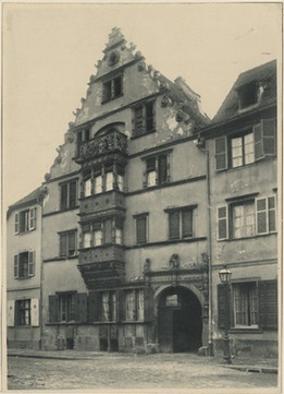 Maison des Têtes à Colmar, avant restauration. Auteur : F.X. Sailé, 1894 (Denkmalarchiv, DRAC Alsace)