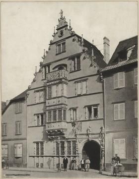 Maison des Têtes à Colmar, après la restauration de 1898. Auteur : F.X. Sailé, 1901 (Denkamalarchiv, DRAC Alsace)